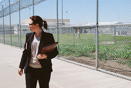 Anna Guy during a monitoring visit at a Washington State Prison